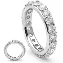 Thin 18K Gold Diamond Eternity Rings Collection Item 3.35ct