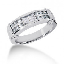 18K Gold Diamond Men's Wedding Ring 0.62ct