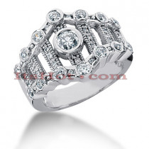 18K Gold Diamond Right Hand Womens Ring 0.75ct