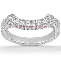 Thin 18K Gold Diamond Wedding Band 0.21ct