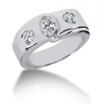 18K Gold Ladies Diamond Ring 0.73ct