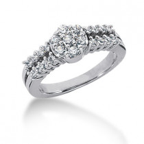 18K Gold Ladies Diamond Ring 0.97ct
