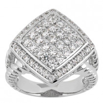 18K Gold Ladies Diamond Ring 1.07ct