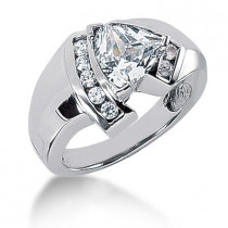 18K Gold Ladies Diamond Ring 1.30ct