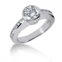 18K Gold Ladies Diamond Ring 1.35ct