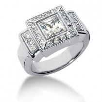 18K Gold Ladies Diamond Ring 1.39ct