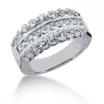 18K Gold Ladies Diamond Ring 1.64ct