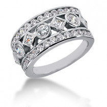 18K Gold Ladies Diamond Ring 1.69ct