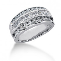 18K Gold Ladies Diamond Ring 1.90ct