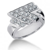 18K Gold Ladies Diamond Ring 1ct