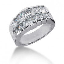 18K Gold Ladies Diamond Ring 2.12ct