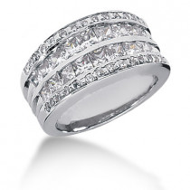 18K Gold Ladies Diamond Ring 2.38ct