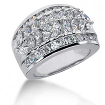 18K Gold Ladies Diamond Ring 2.73ct