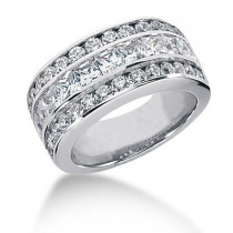 18K Gold Ladies Diamond Ring 2.82ct
