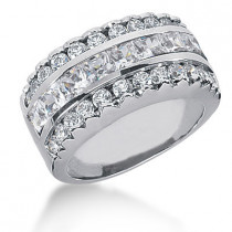 18K Gold Ladies Diamond Ring 2.90ct