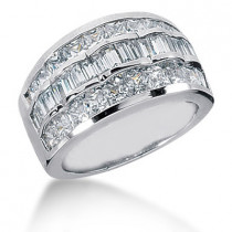 18K Gold Ladies Diamond Ring 3.72ct