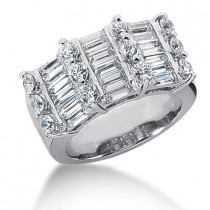 18K Gold Ladies Diamond Ring 3ct