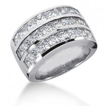 18K Gold Ladies Diamond Ring 4.08ct