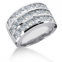 18K Gold Ladies Diamond Ring 4.43ct