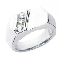 18K Gold Men's Diamond Ring 0.45ct