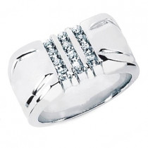 18K Gold Men's Diamond Ring 0.48ct