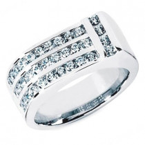 18K Gold Men's Diamond Ring 1.10ct