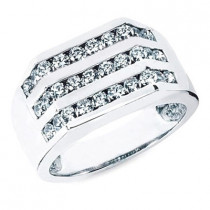18K Gold Men's Diamond Ring 1.20ct