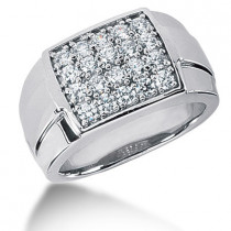 18K Gold Men's Diamond Ring 2ct