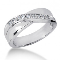 18K Gold Men's Diamond Wedding Ring 0.27ct