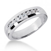 18K Gold Men's Diamond Wedding Ring 0.32ct