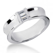 18K Gold Men's Diamond Wedding Ring 0.36ct