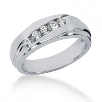 18K Gold Men's Diamond Wedding Ring 0.40ct