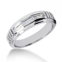18K Gold Men's Diamond Wedding Ring 0.54ct