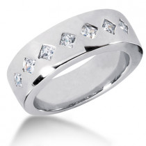 18K Gold Men's Diamond Wedding Ring 0.70ct