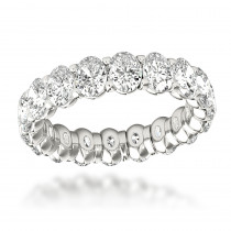 18K Gold Oval Diamond Eternity Ring 4ct G/VS by Luxurman