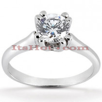18K Gold Round Diamond Engagement Ring 0.78ct