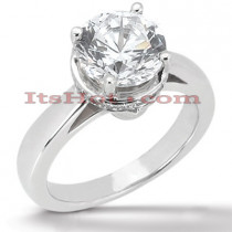 18K Gold Round Diamond Engagement Ring 0.82ct