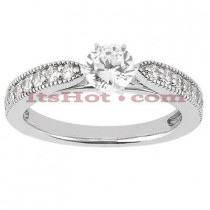 18K Gold Round Diamond Engagement Ring 0.93ct