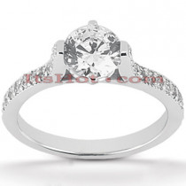 18K Gold Round Diamond Engagement Ring 0.97ct