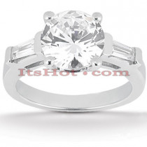 18K Gold Round Diamond Engagement Ring 0.99ct