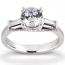 18K Gold Round Diamond Engagement Ring 1.01ct