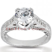 18K Gold Round Diamond Engagement Ring 1.04ct