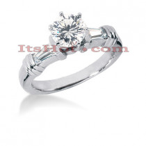 18K Gold Round Diamond Engagement Ring 1.19ct