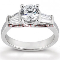 18K Gold Round Diamond Engagement Ring 1.27ct