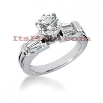 18K Gold Round Diamond Engagement Ring 1.31ct