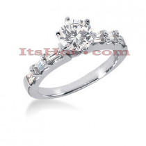18K Gold Round Diamond Engagement Ring 1.35ct