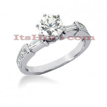 18K Gold Round Diamond Engagement Ring 1.43ct