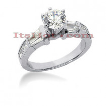 18K Gold Round Diamond Engagement Ring 1.45ct