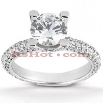 18K Gold Round Diamond Engagement Ring 1.62ct