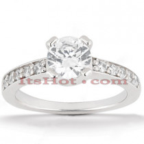 18K Gold Round Diamond Engagement Ring 1ct